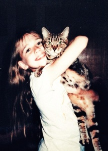With my beloved childhood kitty, Lucy